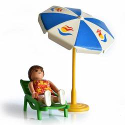 Playmobil Chica con sombrilla