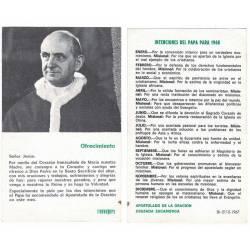 Intenciones del Papa para 1968