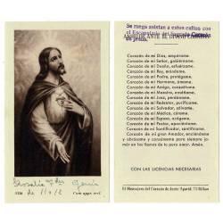 Estampa Corazón de Jesús....