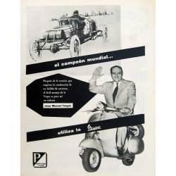 Publicidad Moto Vespa con...