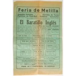 Cartel publicitario Feria...