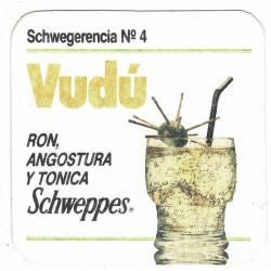 Posavasos Schweppes Vudú....