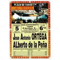 Cartel Plaza de Toros Mijas...