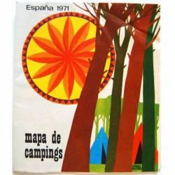 Mapa de Campings España 1971