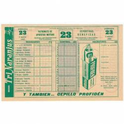 Quiniela 3-3-1963. Jornada...