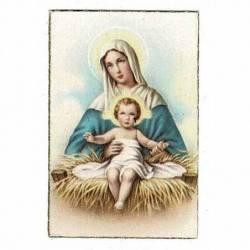 Estampita mini Virgen con...