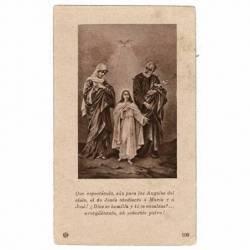 Estampa Jesús, María y José...