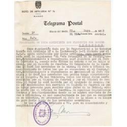Telegrama postal. Rincón...