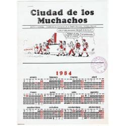 Calendario 1984. Ciudad de...